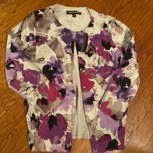 Express floral cardigan